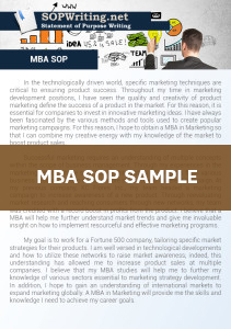 MBA Statement of Purpose Example