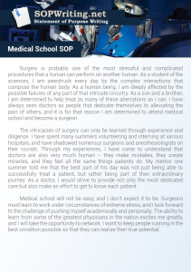 Medical School Statement Of Purpose Sample