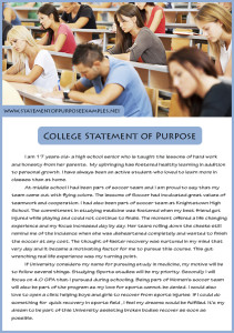 college statement of purpose sample