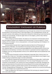 philosophy statement of purpose sample