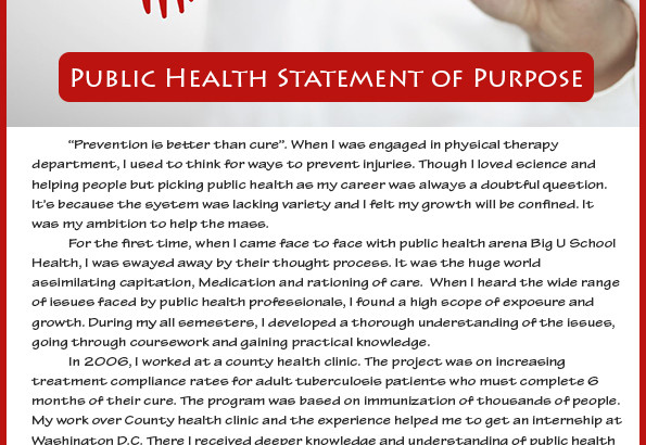 public health statement of purpose sample