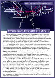 statement of purpose psychology sample