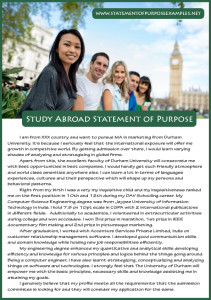 statement of purpose study abroad sample