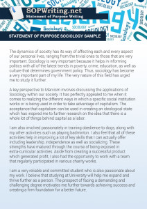 statement of purpose sociology sample