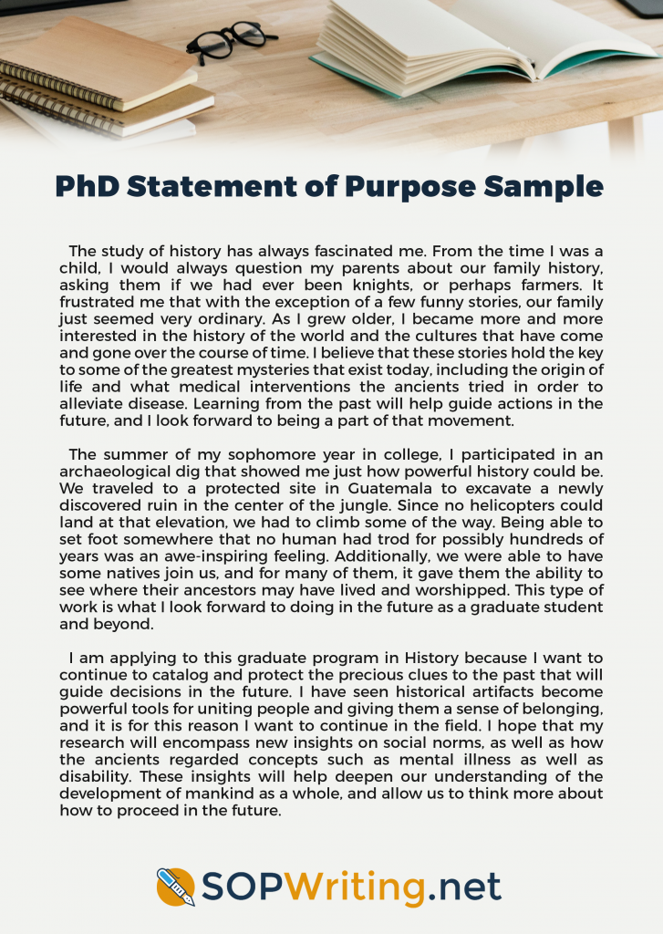 phd statement of purpose sample